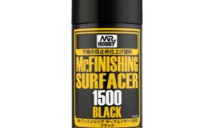 Mr Hobby Mr Finishing Surfacer 1500 [Primer] Black Spray Can 170ml #