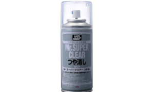 Mr Hobby Super Clear Flat Top Coat Spray Can 170ml #